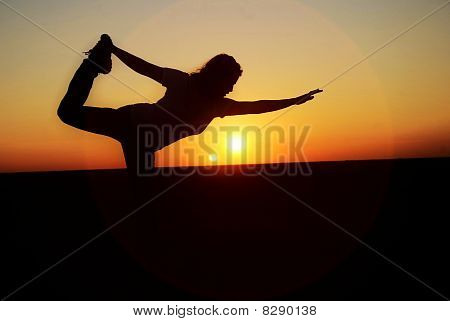sunset light  yoga