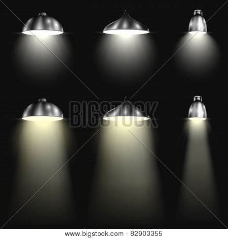 Three Types of Spotlights With Beams