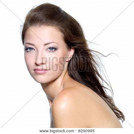 Face Of A Sexy Beautiful Young Woman