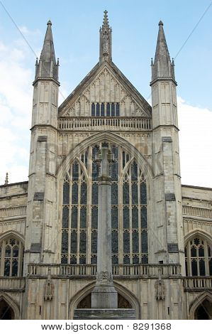Winchester Cathedral viewed from the West