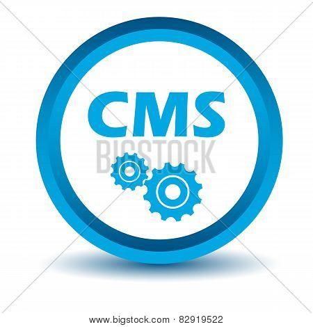 Blue cms icon