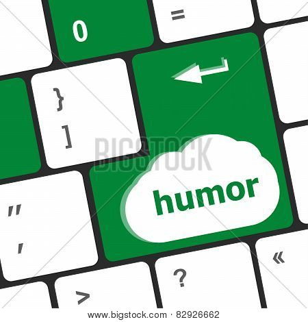 Computer Keyboard With Humor Key - Social Concept
