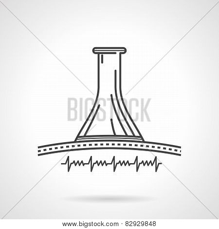 Black line vector icon for obstetric stethoscope