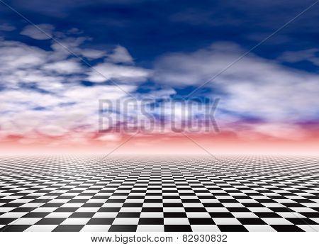 Checkered Floor Background