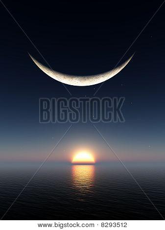 Smile Moon Sunrise
