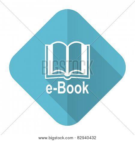 book flat icon e-book sign