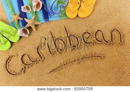 Caribbean Beach Writing
