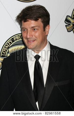 LOS ANGELES - FEB 15:  Nathan Fillion at the 2015 American Society of Cinematographers Awards at a Century Plaza Hotel on February 15, 2015 in Century City, CA