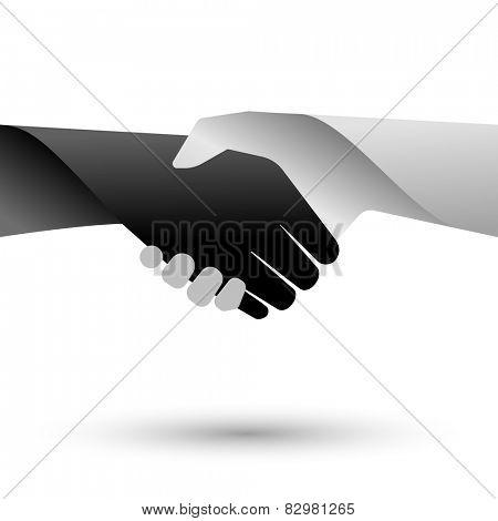 Handshake, vector illustration