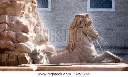 Horse Fountain In The Residenzplatz, Salzburg, Austria