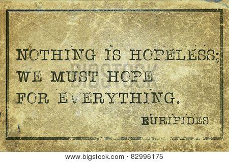 Must Hope Print