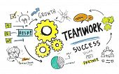 Teamwork Team Together Collaboration Group Unity Success Concept poster