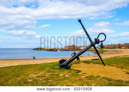 The beach in North Berwick in Scotland