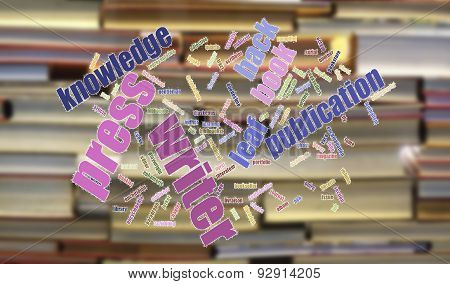 Book And Publication Background And Wordcloud