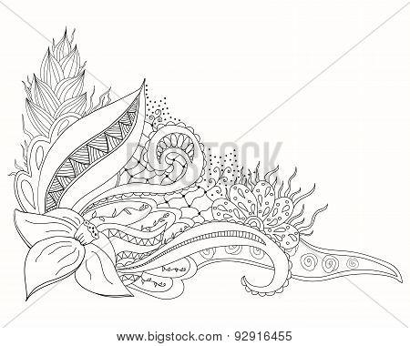 Hand drawn doodle element for design.