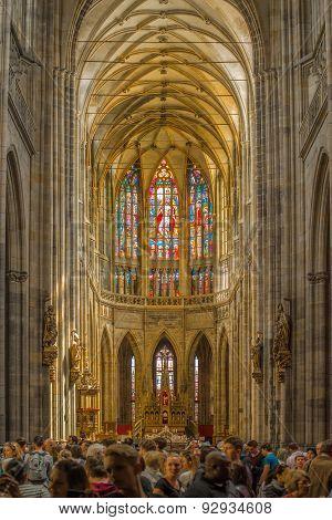 Prague Saint Vitus Cathedral Interior
