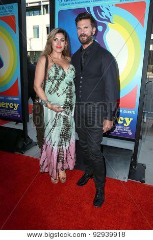 LOS ANGELES - JUN 2:  Lorenzo Lamas with pegnant wife at the