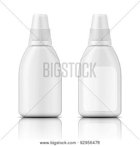 White plastic bottle template.