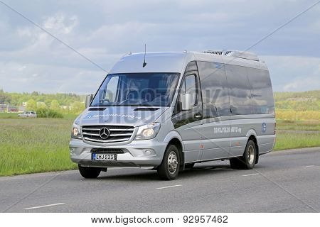 Mercedes-Benz Sprinter Minibus On The Road