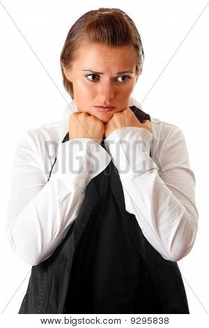 frustrated modern business woman