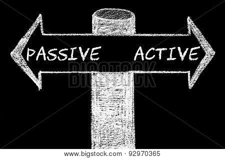 Opposite Arrows With Passive Versus Active