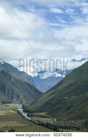 View of the Urubamba Valley, Peru