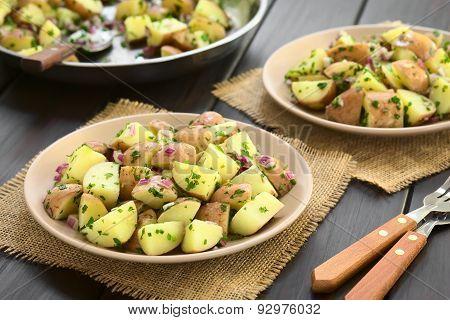 Potato Salad with Onion and Herbs