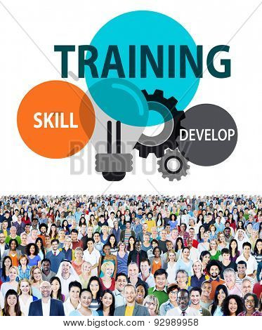 Training Skill Develop Ability Expertise Concept poster