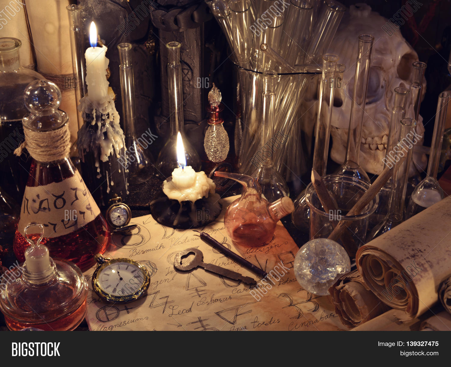 Still life vintage bottles key image photo bigstock still life with vintage bottles key magic objects and parchments old pharmacy biocorpaavc Gallery