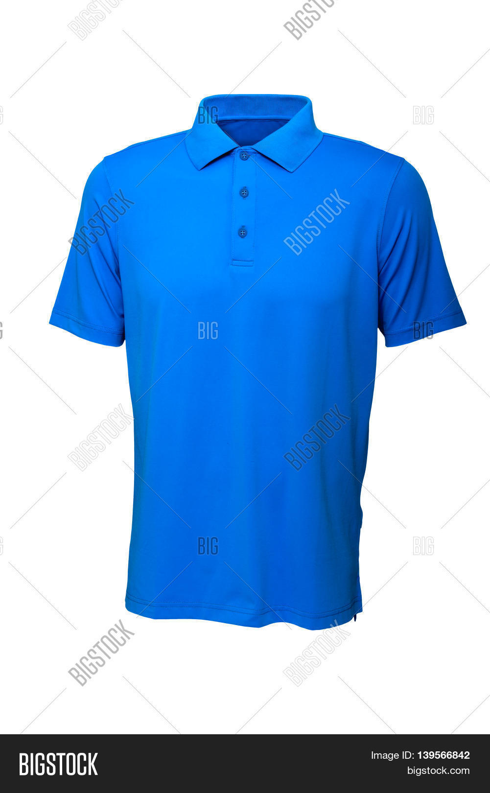 e9ca5b174 Golf tee shirt blue color for man or woman on white background
