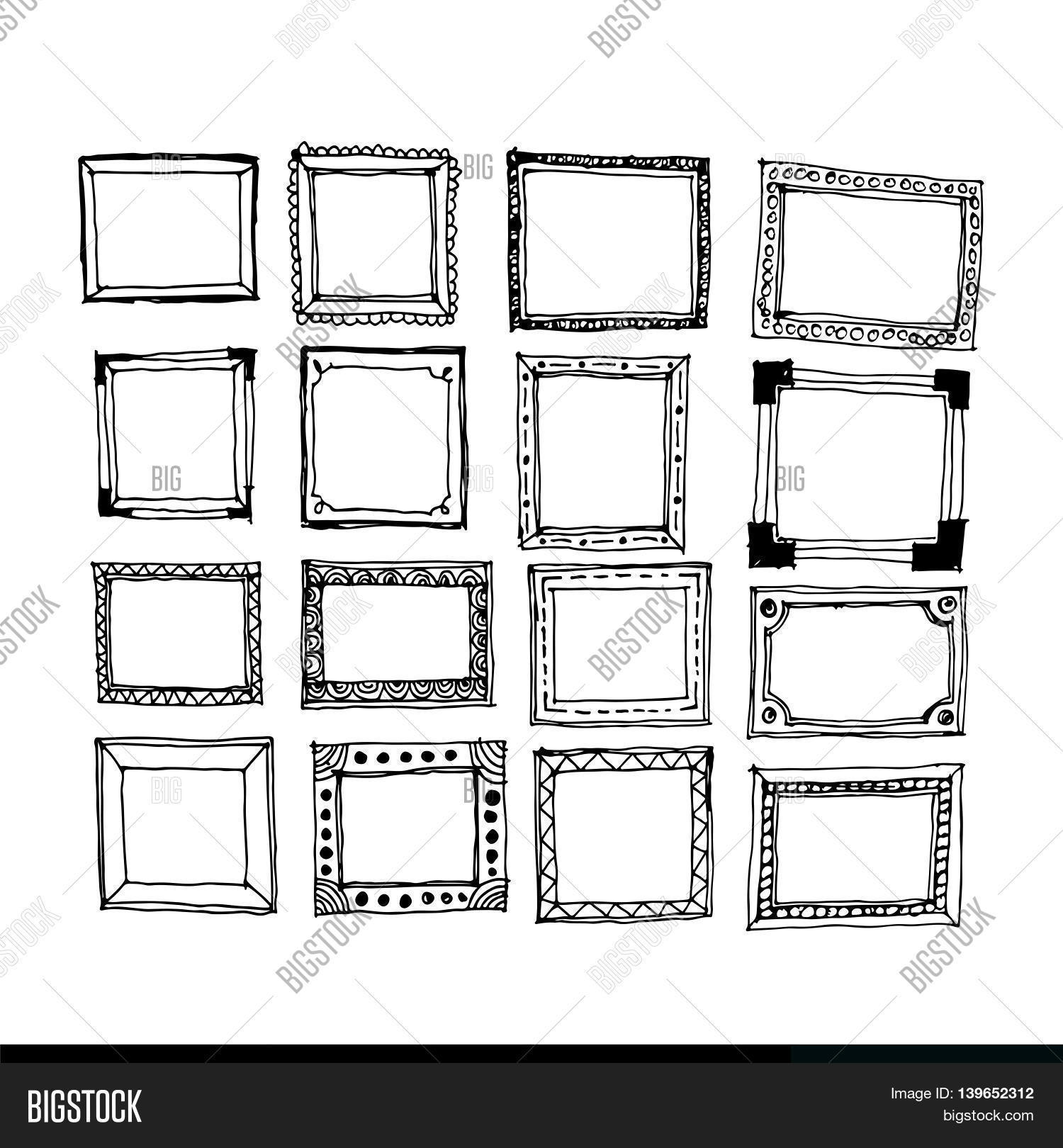 Images Hand Draw Frame Icon Vector & Photo   Bigstock
