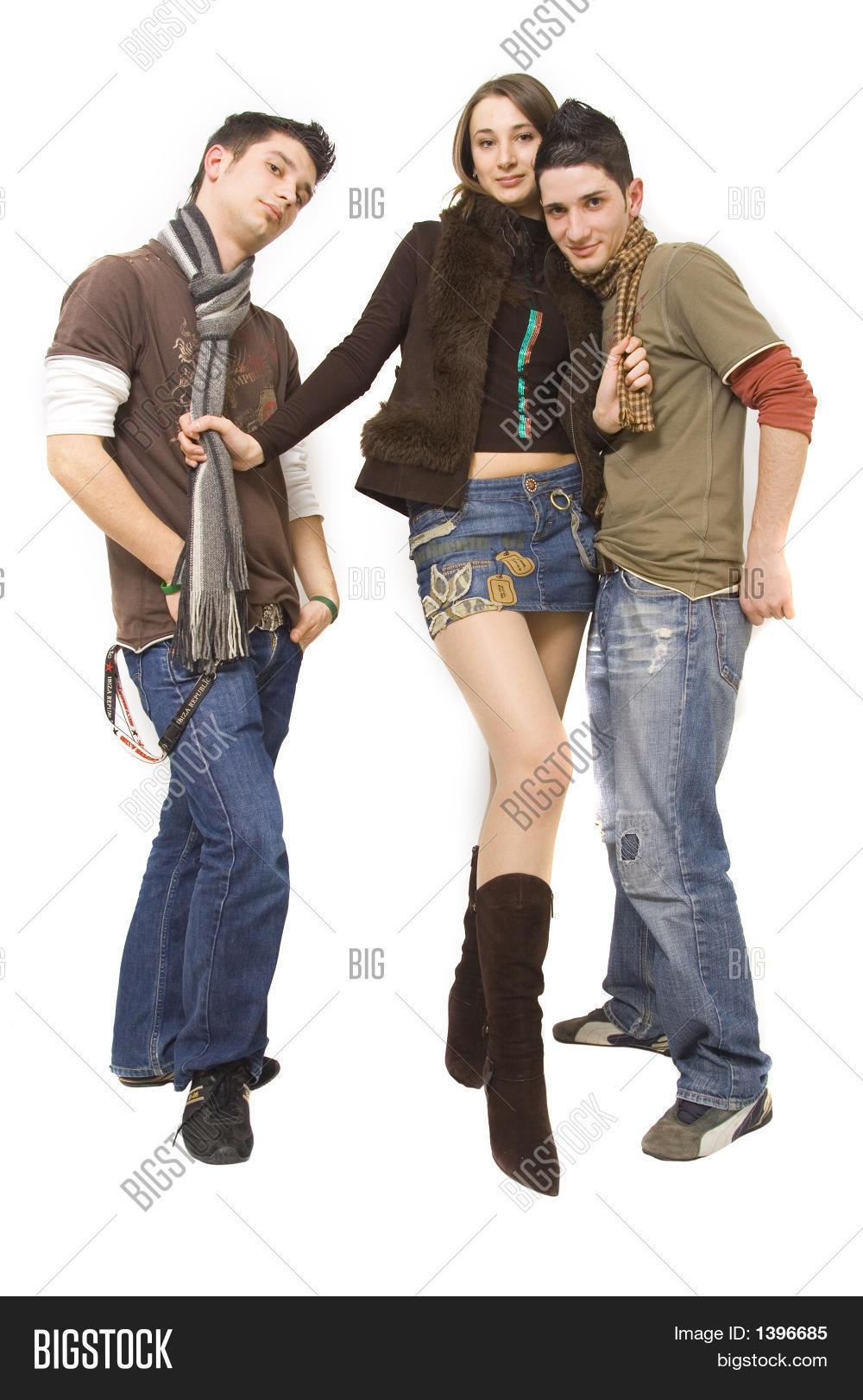 Threesome Date Image Photo Free Trial Bigstock