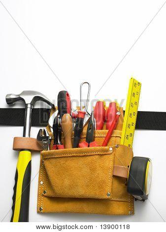 close up of toolbelt