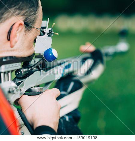 Male Training Sport Shooting
