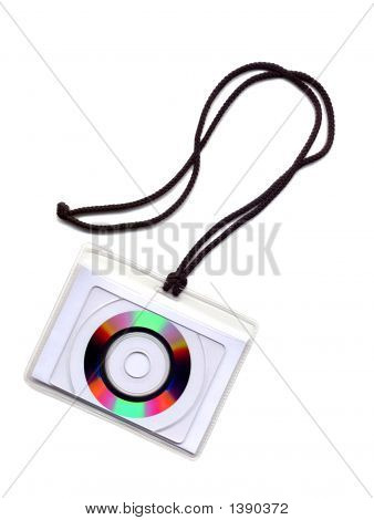 Cd Disk Cut-Away On A Cord