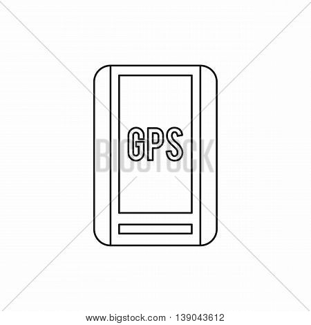 Global Positioning System icon in outline style isolated vector illustration