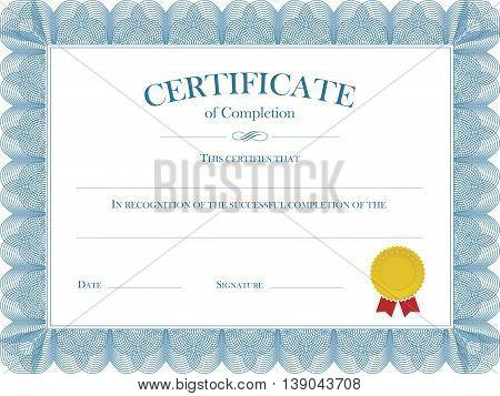 Vector file representing a Certificate Diploma Template.