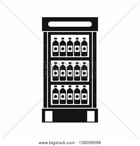 Fridge with refreshments drinks icon in simple style isolated vector illustration