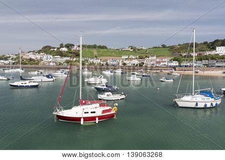 Marina in Gorey town, channel islands, UK
