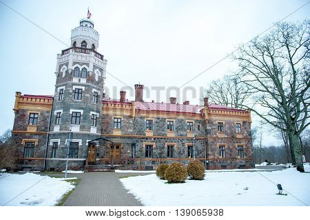 Sigulda New Castle (former Kropotkin manor), now Sigulda Town Council. Sigulda is a town in the Vidzeme Region of Latvia, 53 kilometres (33 miles) from the capital city Riga.