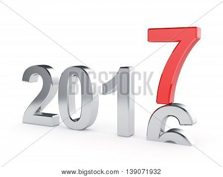 2017 New Year Concept Isolated