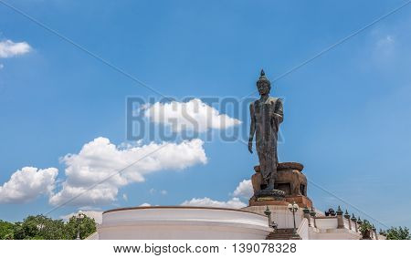 Nakhon Pathom Thailand - July 17 2016 The huge Buddha at Phutthamonthon park in the Phutthamonthon district. One of a famous place for Buddhism. Located on the west of Bangkok