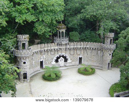 Quinta da Regaleira in Sintra, a magical place (Terraço dos Mundos Celestes).