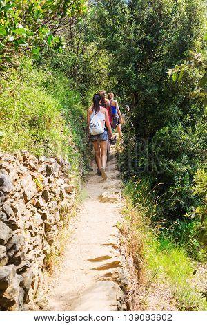 Coastal Hiking Trail In Monterosso, Cinque Terre, Italy