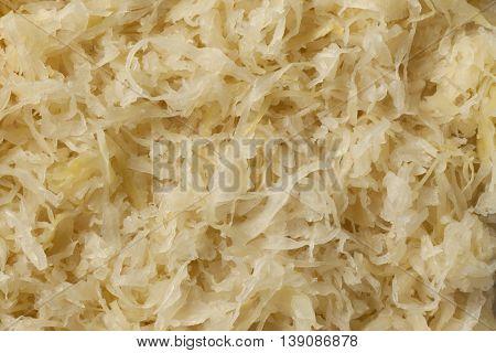 Preserved sauerkraut full frame