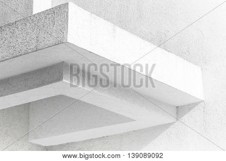 Abstract White Architecture Fragment With Walls