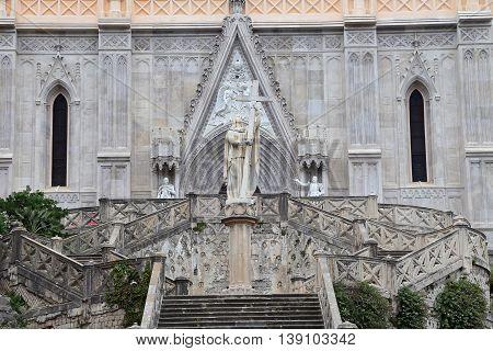 Saint Francesco Cathedral exterior. Gaeta - Italy
