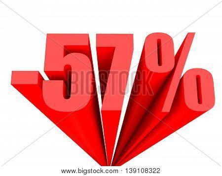 Discount 57 Percent Off Sale.