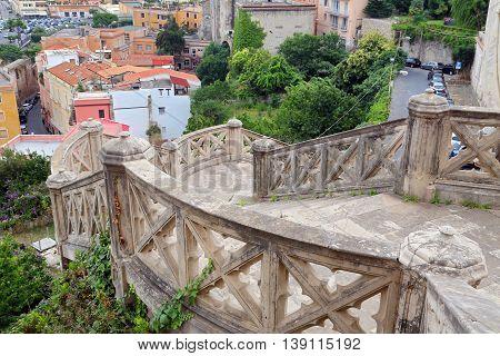 Saint Francesco Cathedral exterior detail. Gaeta Italy