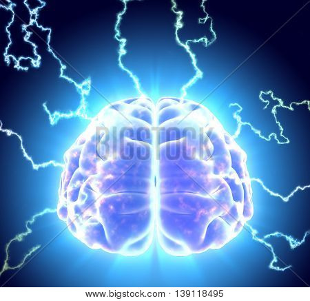 3D Illustration Of Conceptual Brain Storm.